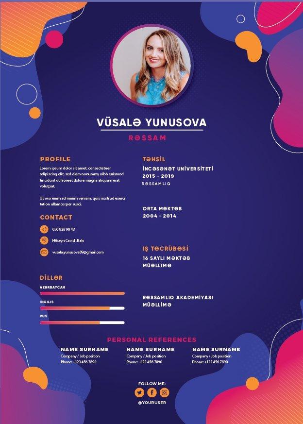CV Azerbaycan Dilinde